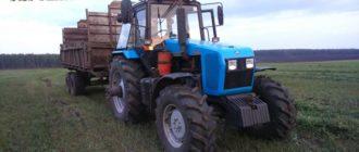 трактор МТЗ-1221 на поле