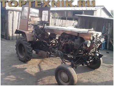Трактор с самодельной кабиной