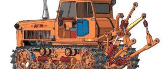 Трактор ДТ-75 в рисунке