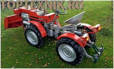 Traktor tz на поле