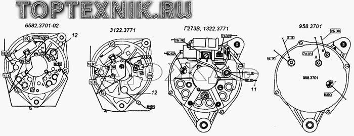 Схема подключения генератора КамАЗ