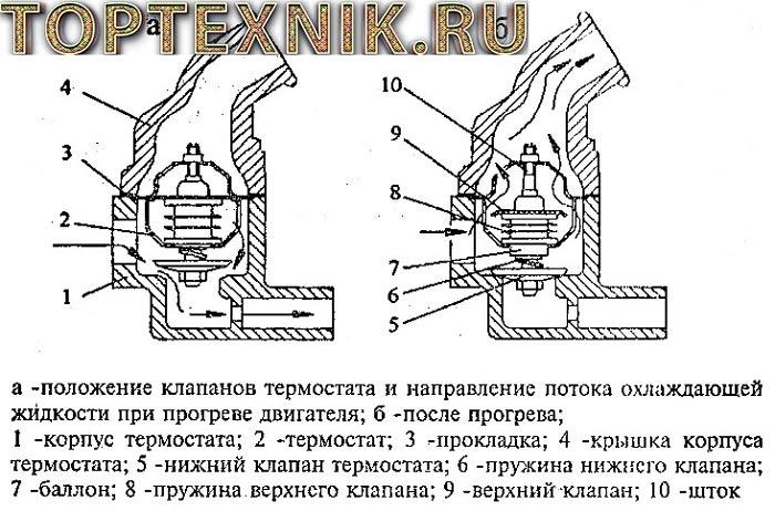 Рабочая схема термостата