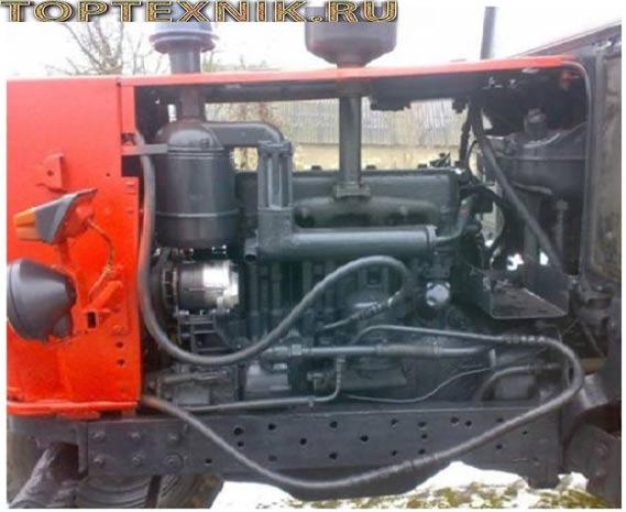 запуск мотора трактор ЮМЗ