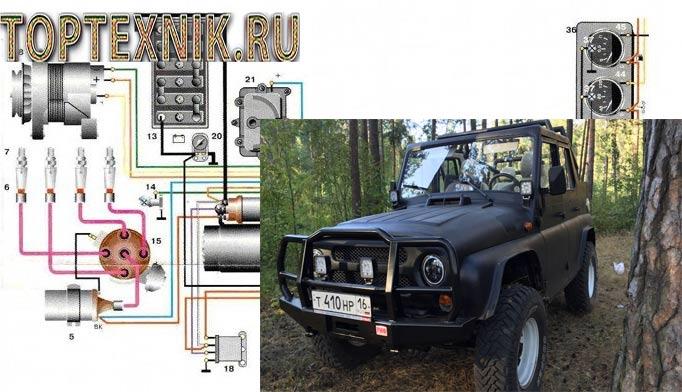 Электрооборудование УАЗ 31512