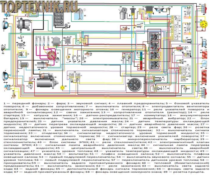 схема по электрике УАЗ 31519