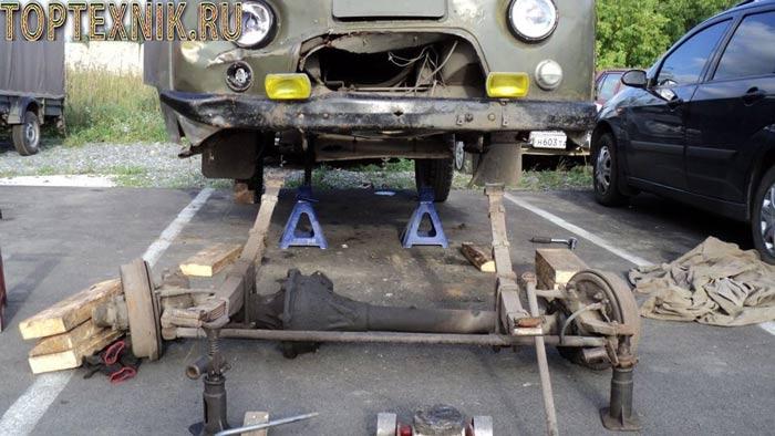 ремонт переднего моста буханка