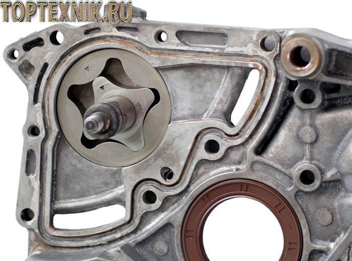 Двигатель имеет систему смазки