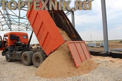 Выгрузка песка