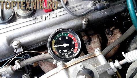 Проверка давления масла 405